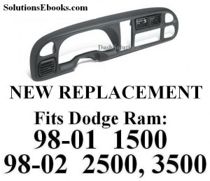 1998 1999 2000 2001 Dodge ram 1500 - 2002 2500 3500 Bezel with vents replacement radio instrument gauges