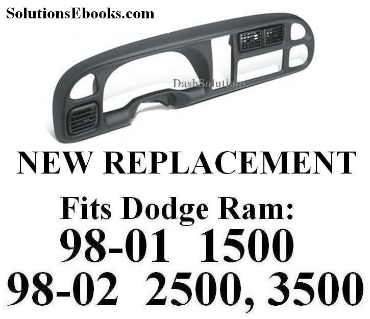 1998 1999 2000 2001 Dodge Ram 1500 2002 2500 3500 Bezel Replacement Radio Instrument Gauges