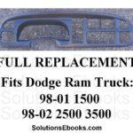 1998 1999 2000 2001 Dodge ram 1500 - 2002 2500 3500 Dash Bezel