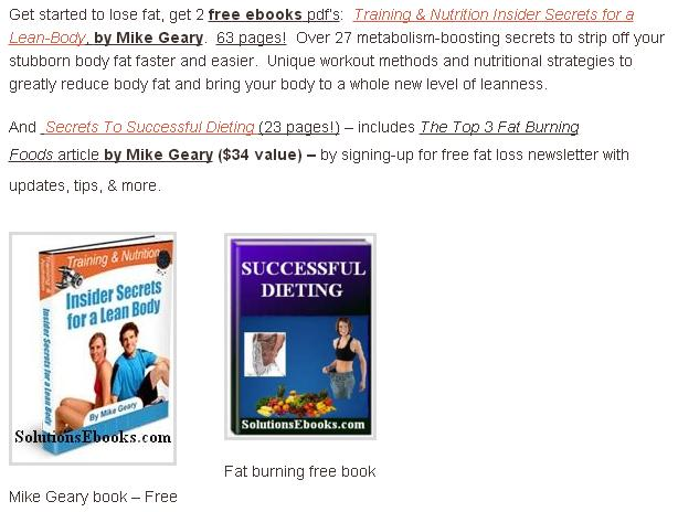 Mike Geary - free fat burning book